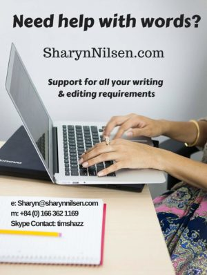 SharynNilsen.com freelance writer, Author, editor
